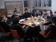 Jaro 2012 - jedna zposledních porad ve staré klubovně vRozšířené