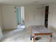 Srpen 2012 - rekonstrukce nové klubovny U školské zahrady